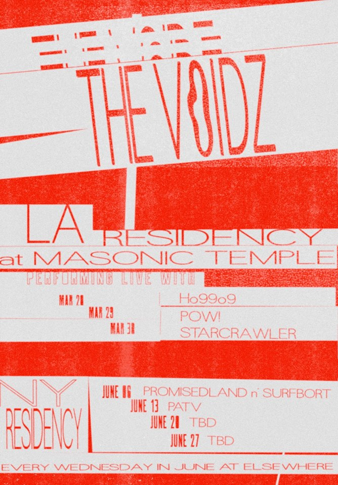 The Voidz LA/NY Residencies