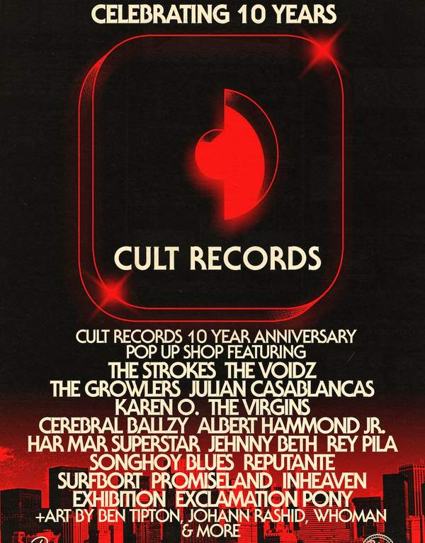 Cult Records celebrates 10 years with multi-sensory pop up shop